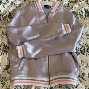 American Apparel Pastel Purple Bomber Jacket